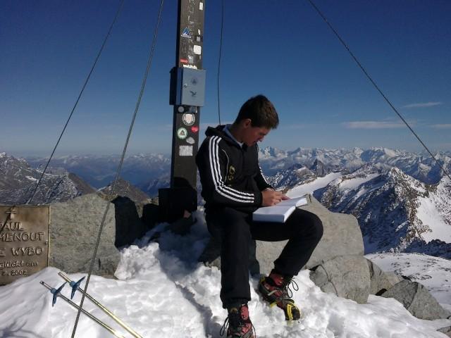 Manuel am Gipfel des Wilden Freiger, 3.418m