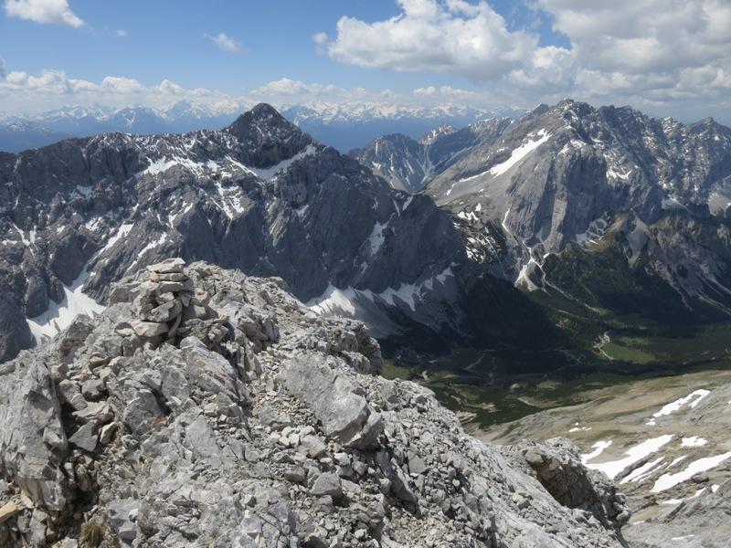 am Gipfel der Gamskarspitze