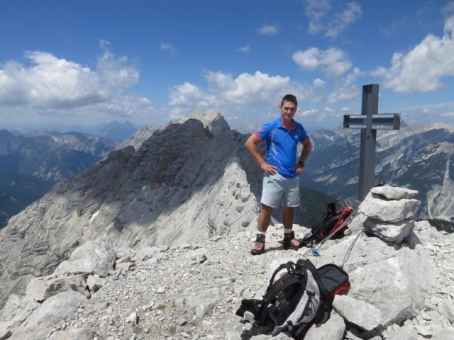 am Gipfel der Sonntagskarspitze