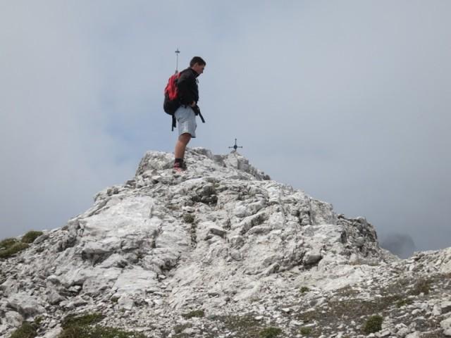 ein paar Meter zum Gipfel