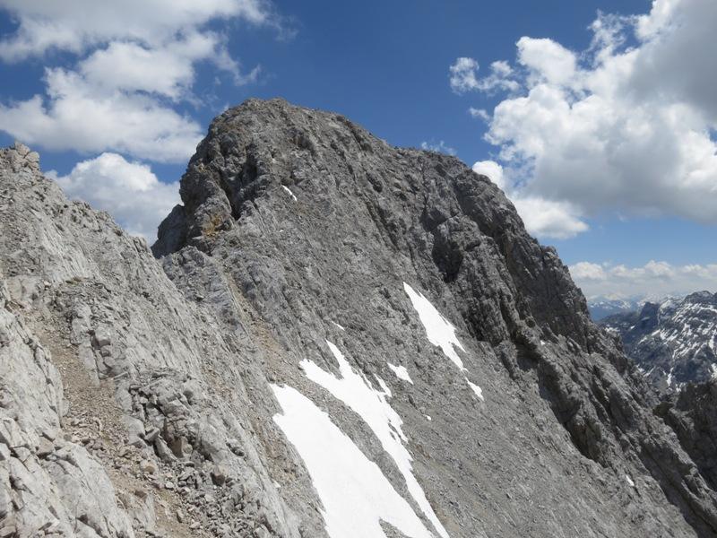 Blick zurück auf die Gamskarspitze von der Scharte aus