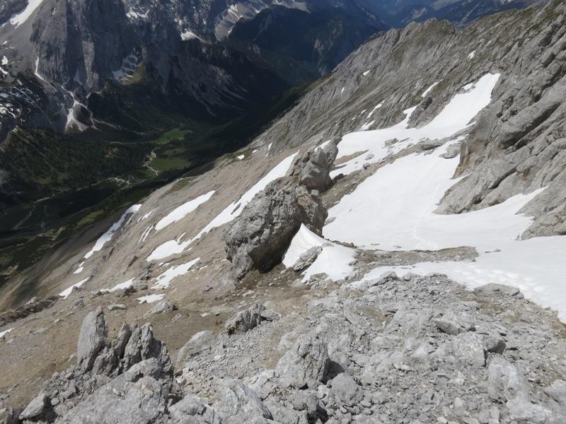 Anstieg vom Großstein