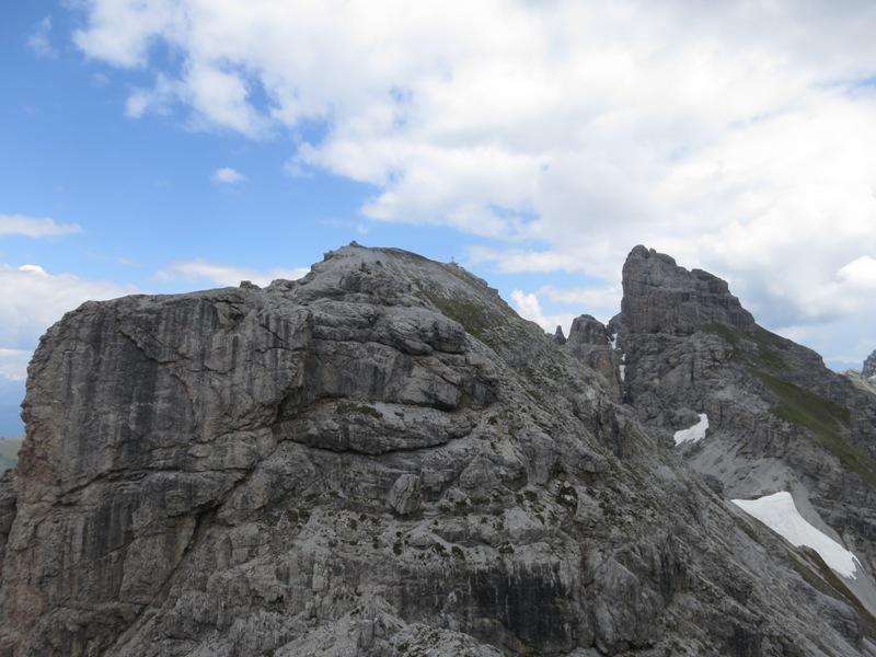Kleine Ochsenwand vom Klettersteig der Großen Ochsenwand aus gesehen