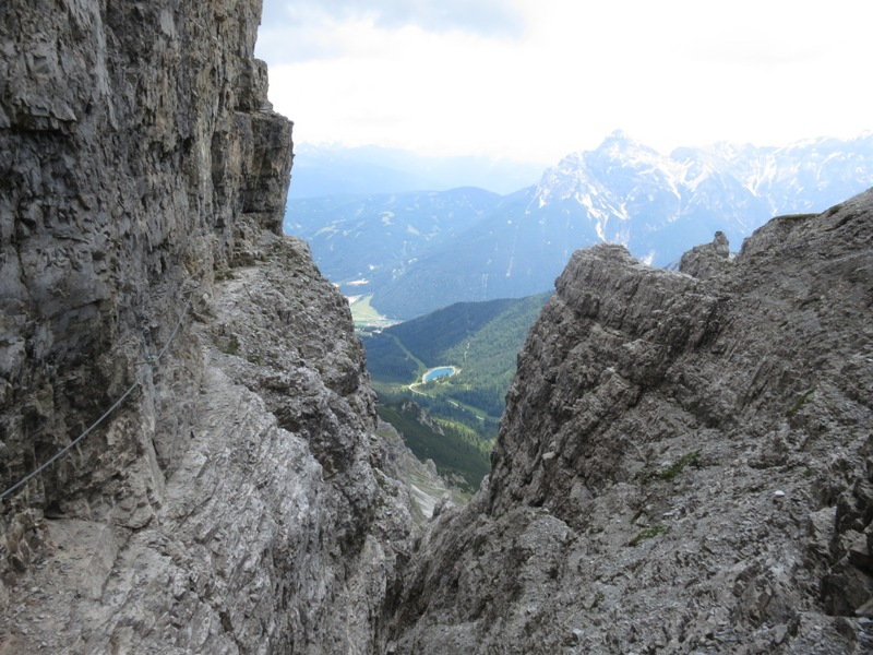 Aussicht Klettersteig auf den Steingrubenkogel Richtung Osten (Schlick)