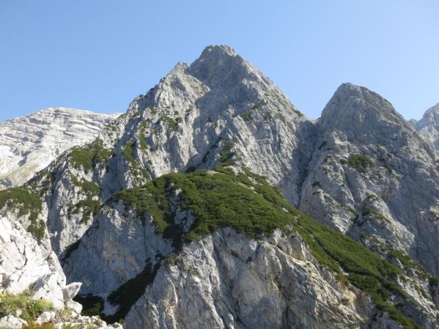 Blick vom Gipfel der Hüttenspitze zur Fallbachkarspitze
