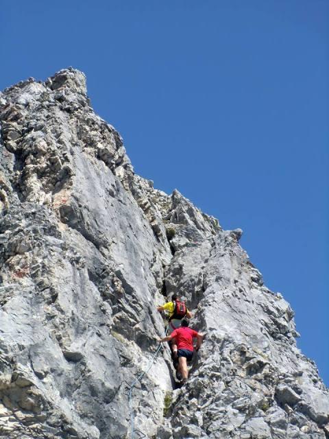die Verschneidung am Gipfelaufbau