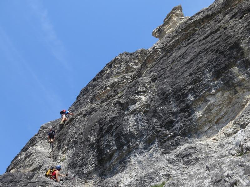die mächtige Hauptwand, toll zu klettern