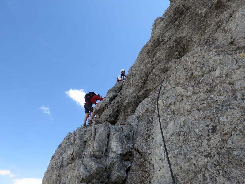 Hauptwand im Abstieg