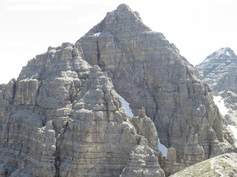 die Abstiegsroute von der Großen Ochsenwand im Rückblick