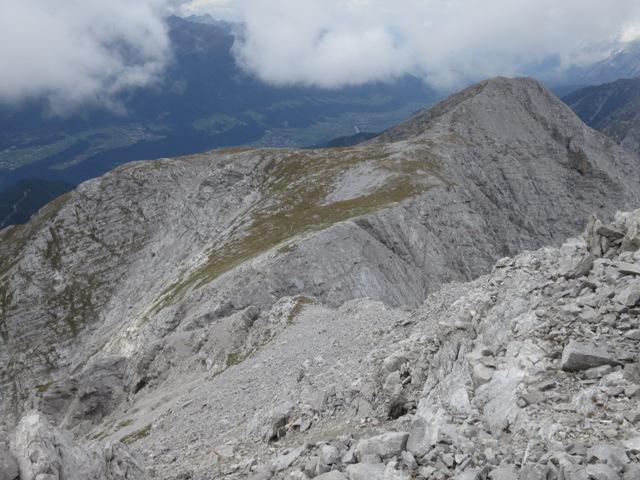 Blick vom Steinmandl am Kleinen Solstein zum Großen Solstein