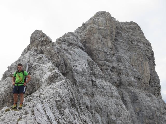 der verbleibende Aufstieg am Grat auf den Kleinen Solstein