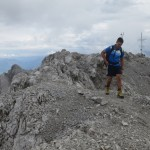 Die U Form Des Gipfels Des Kleinen Solsteins Abgeschritten