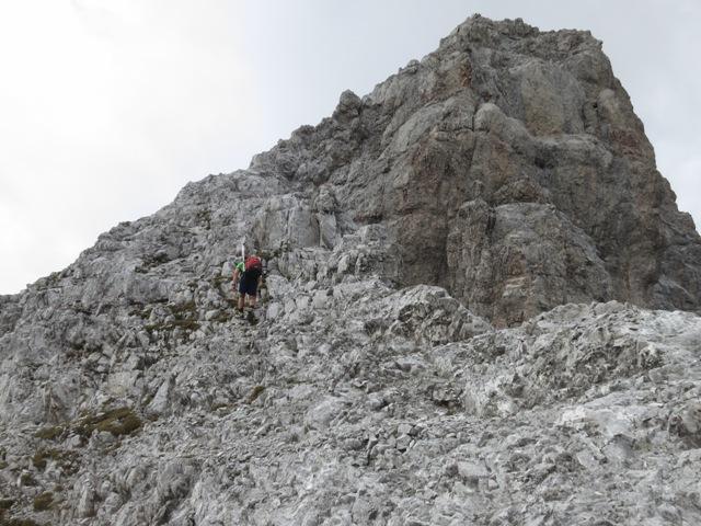 letzte Höhenmeter bis zur Richtungsänderung am Grat