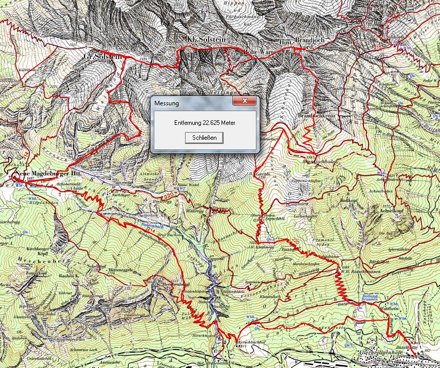 Wegstrecke Überschreitung Brandjochspitzen - Kleiner Solstein