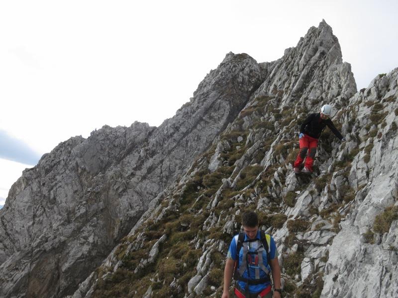 Gratverlauf Fallbachkarspitze zum Bettelwurf Osteck