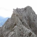 Gratverlauf Mit Steinmandl Und Steig Links Ostseitig Passage Im Norden Der Rippe Mit Steilabbruch