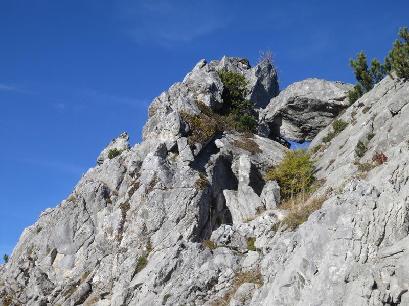 einzigartige Formationen am Kamm