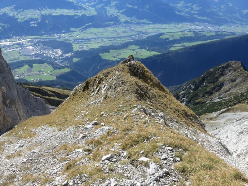 und die Trennung nach Süden; ein Grat wird entsendet, wie so häufig im Karwendel