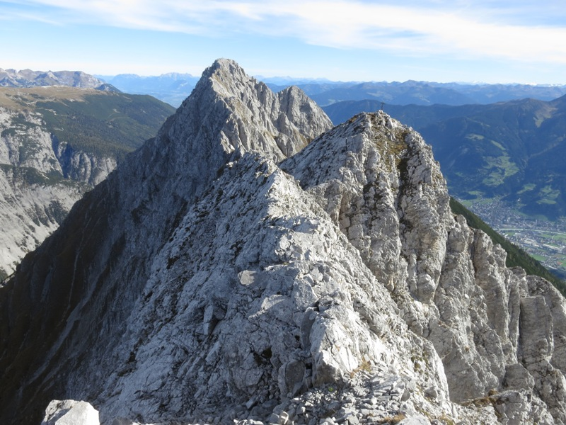 Schneekopf, Mittagspitze, Fiechterspitze (aufgenommen vom hinteren Gipfel des Schneekopfes)