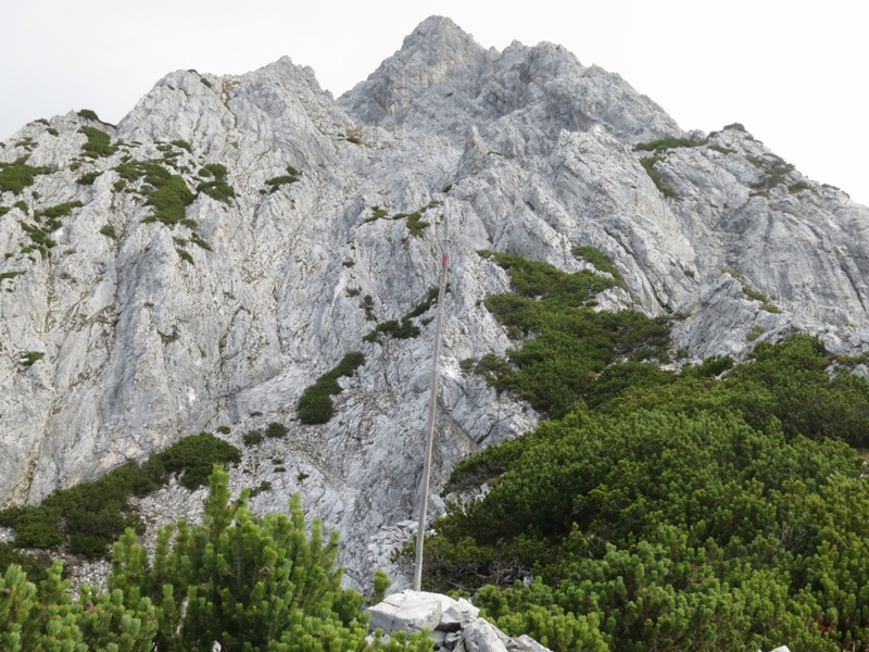 Steigmarkierung auf die Fallbachkarspitze