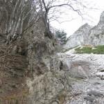 Breccie In Der Trennlinie Der Geolog Formationen
