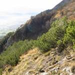 Der Felsruecken Zwingt Zum Abstieg