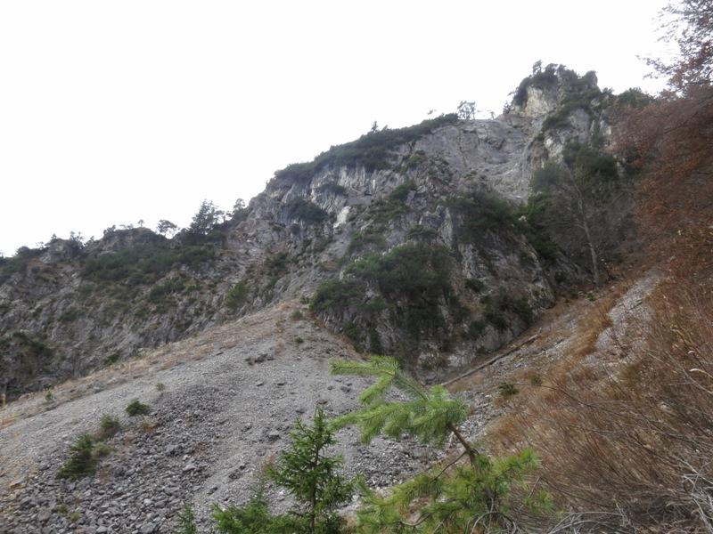 Höhe Lippenkopf, Rippe zur Guggermauerhütte