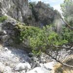 Schlucht Im Rueckblick Am Gegenueberliegenden Aufstieg Zur Huette