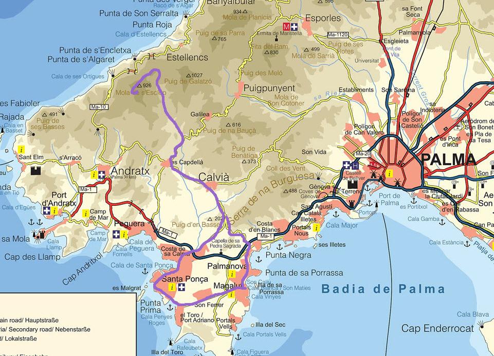 Gesamte Tour (Mountainbike- und Wanderstrecke)