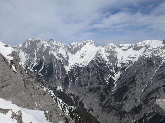 Gamskar-, Brantlspitze, Hochkanzl und Roßlochspitze