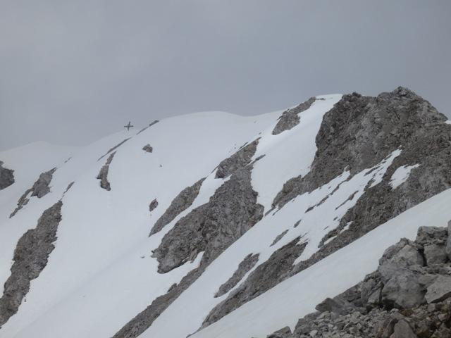 der schon sichtbare Gipfelgrat
