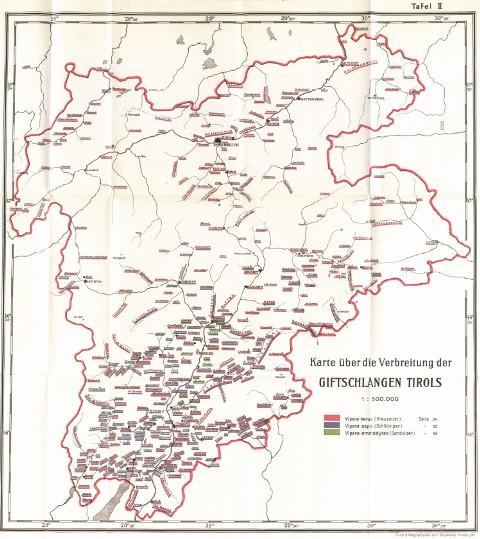 eine der beiden Karten mit dem Verbreitungsgebiet in Tirol