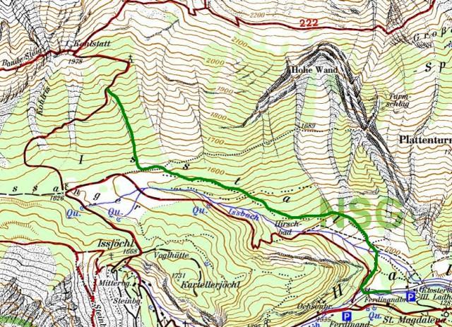 Jägersteig Isstal bis Marterl