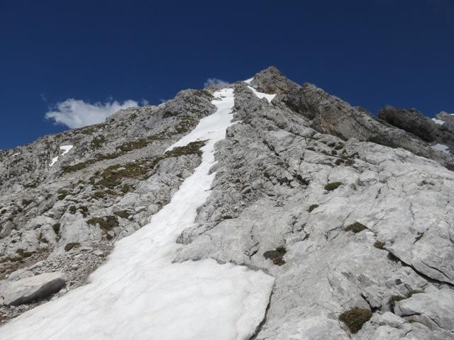 Die Gipfelrinne, Freude für den Abstieg