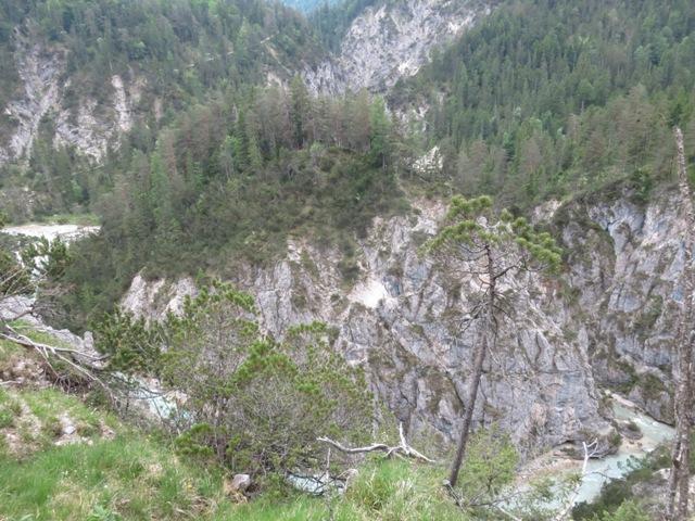 Vereinigung des Gleirschtalbaches mit der Isar