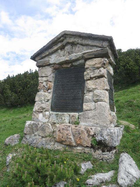 Denkmal für Otto Melzer, einem großen Bergsteiger zu Ende das 19.Jhdts.