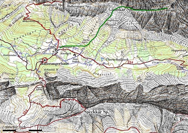 Brantlspitze über Gamskarspitze vom Halleranger aus