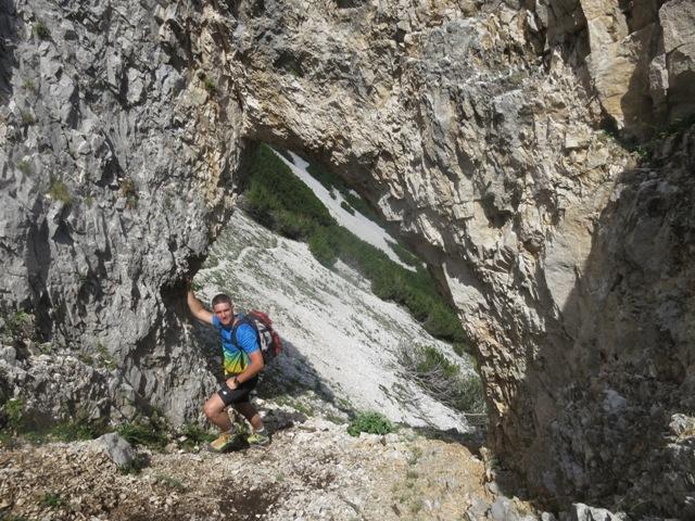 natürlicher Steintunnel in den Porten
