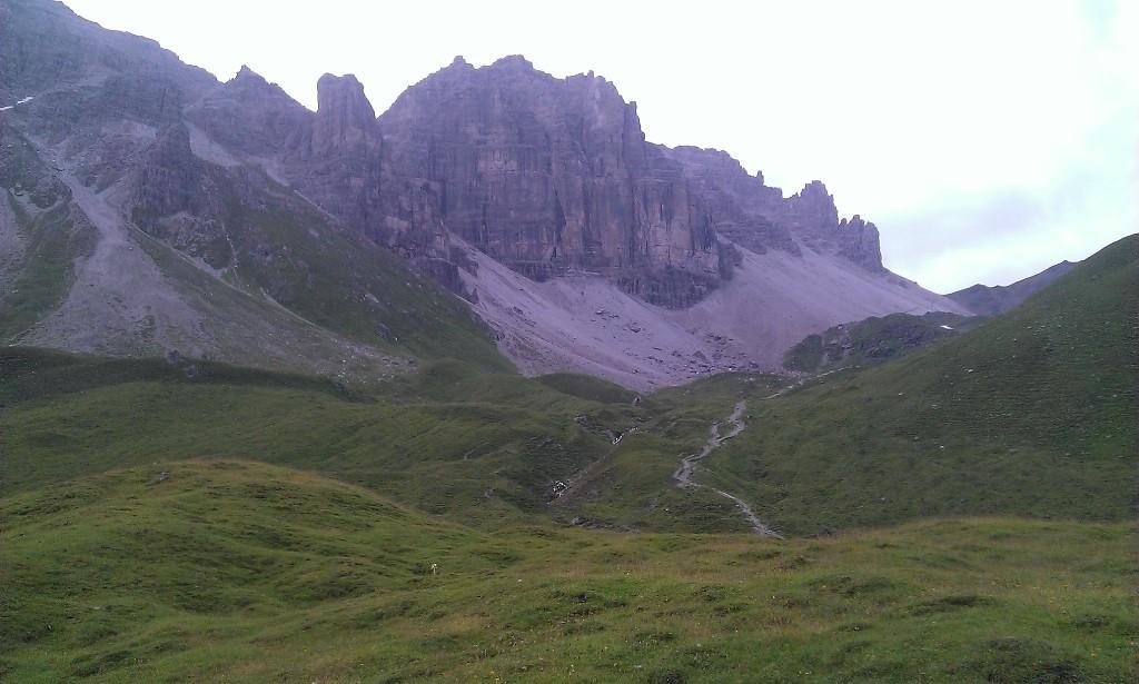 Zugang zur Riepenwand, knapp oberhalb der Adolf Picher Hütte