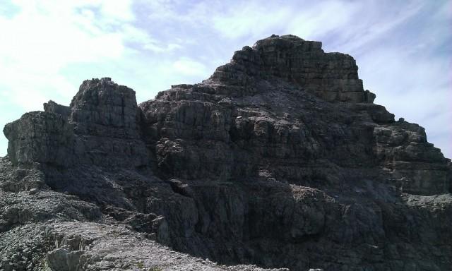 Gipfelaufbau nach Verlassen des Norgrates