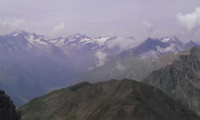 die Gipfel rund um Alpeiner und Lüsener Ferner