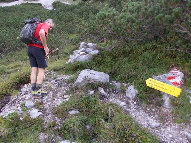 Abzweig zur Kaskarspitze