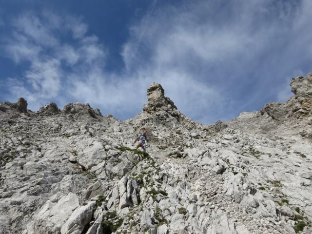 im untersten Teil des Abstieges in den vorderen Teil des Bachofenkars