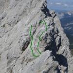 Grat Kaskarspitze Spezielle Passagen