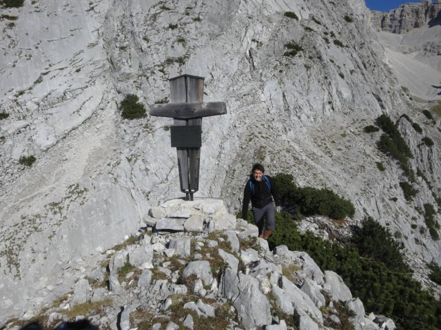 das Gipfelkreuz der Kleinen Wechslspitze