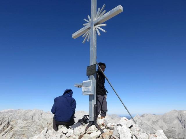 Klaus am Gipfel der Hohen Fürleg, 2.571m