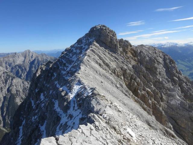 die Walderkampspitze liegt vor uns