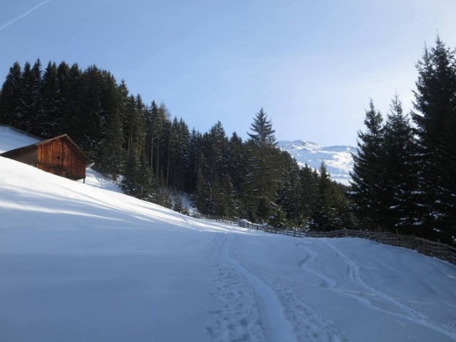 ab hier gute Schneelage zum Abfahren