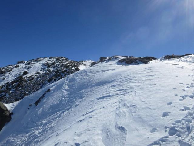 und nach dem Sporn erblickt man den Gipfel
