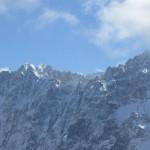 Jägerkarspitzen mit dem gewaltigen Barthgrat im Hintergrund